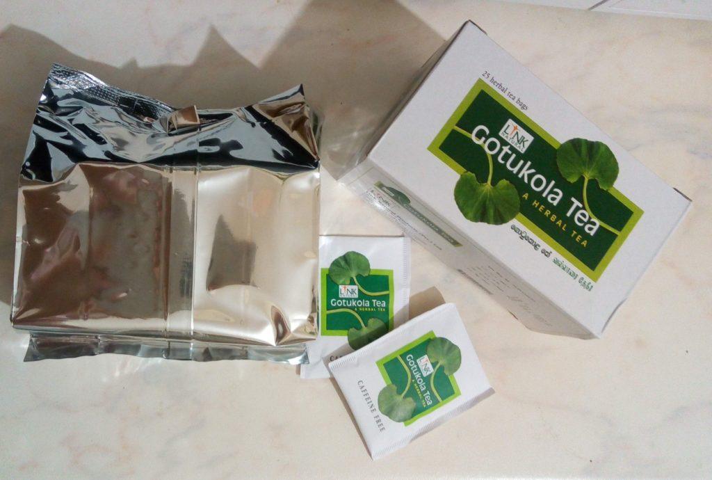 Gotukola Tea Link Natural - упаковка и внешний вид